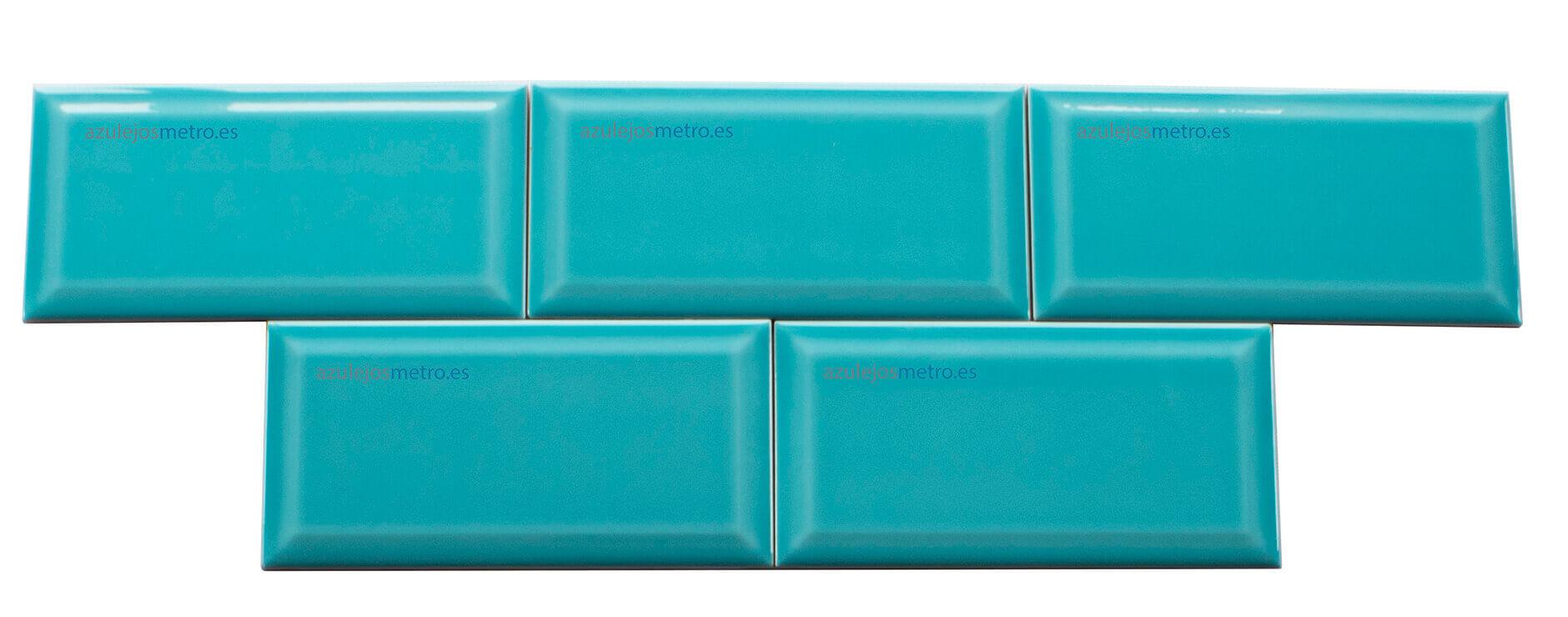 Azulejos Turquesa Brillo Biselado Azulejosmetro Es