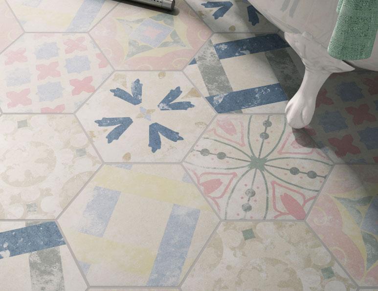 mosaico hidráulico